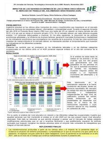 MODIFICACIONES EN LA DINÁMICA DEL MERCADO DE TRABAJO DEL AGLOMERADO GRAN ROSARIO EN FUNCIÓN DE LAS POLÍTICAS ECONÓMICAS APLICADAS A PARTIR DE 2015.